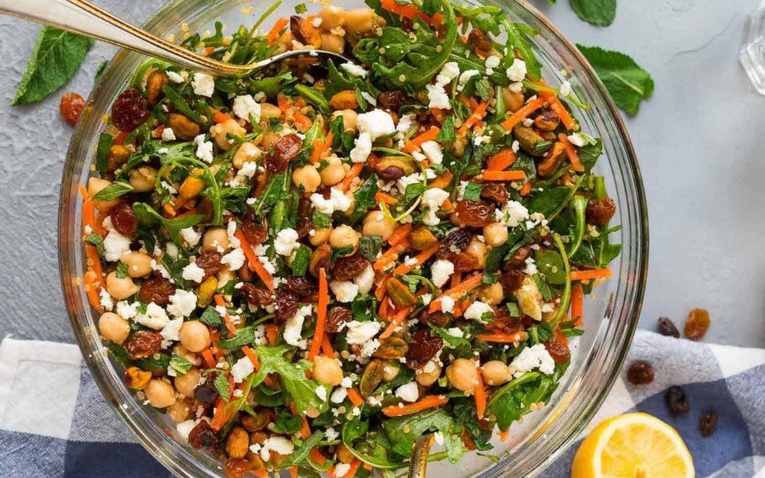 Moroccan carrot, quinoa & chickpea salad