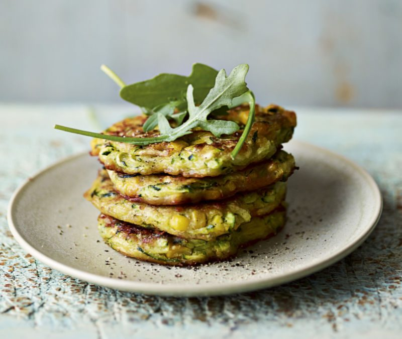 Courgette & chickpea fritters